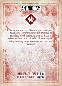 Discipline and Blood Magic Card Deck - Vampire The Masquerade 1