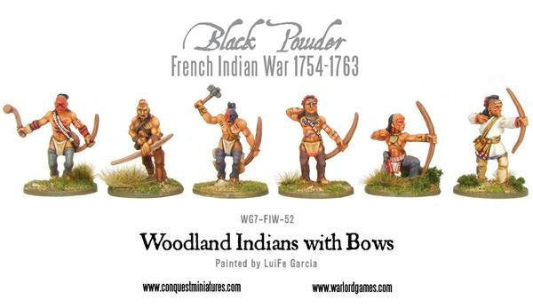 French Indian War 1754-1763 Woodland Indians With Bows Pack