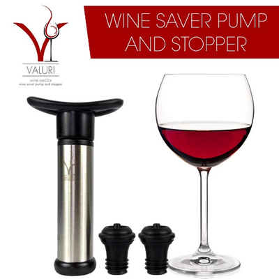 Wine Aerator with Wine Saver: Includes Wine Pourer + 2 Wine Stoppers With Vacuum, Wine Kit With Wine Aerator Pourer & Wine Bottle Stopper