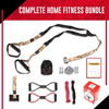 Body-weight Fitness Resistance Training Kit - Home Gym Equipment - Perfect Workout Gear for Travel & Home Workout Equipment (CAMO Color)
