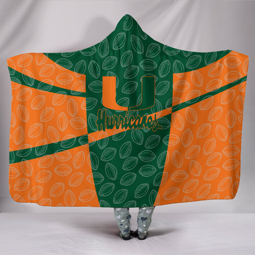 Miami Hurricanes Hooded Blanket