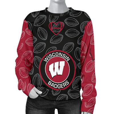Wisconsin Badgers Sweater - Women's