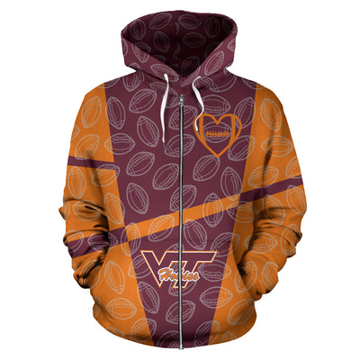 Virginia Tech Hokies Zip-Up Hoodie