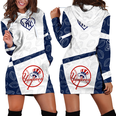 outlet store c3f81 6e4d6 New York Yankees Hoodie Dress