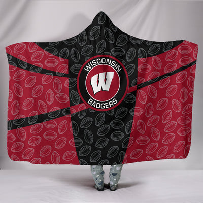 Wisconsin Badgers Hooded Blanket