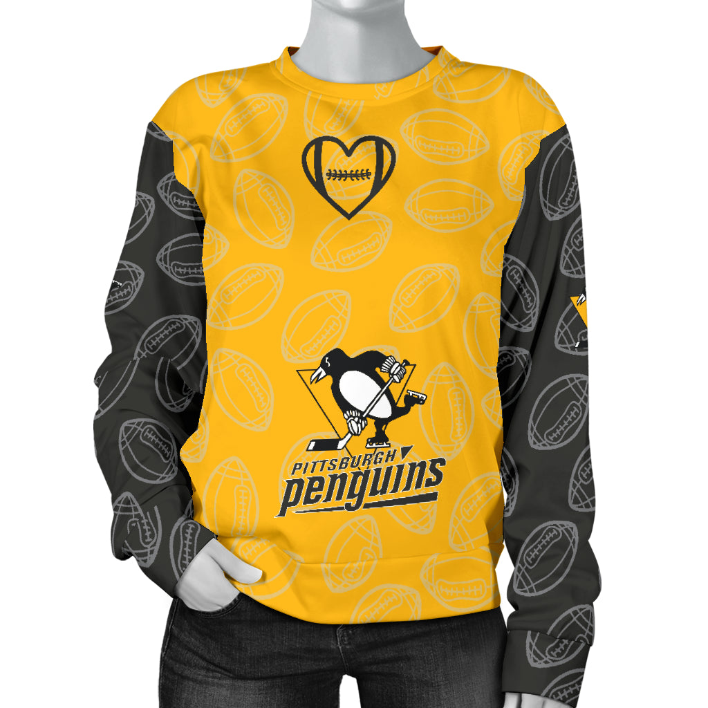 db4ab52e9d7a Pittsburgh Penguins Sweater - Women's - Fan Made Club