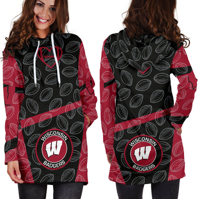 Wisconsin Badgers Hoodie Dress