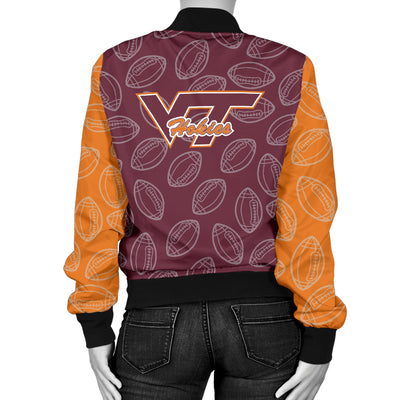 Virginia Tech Hokies Bomber Jacket - Women's