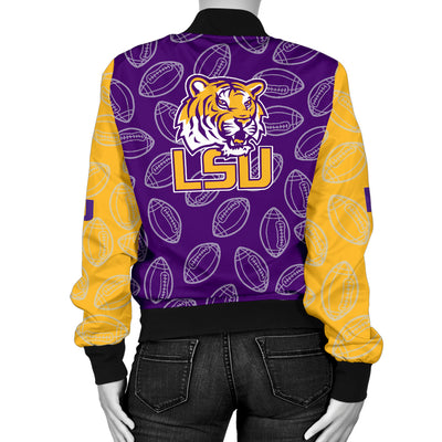 Louisiana State U Tigers Bomber Jacket - Women's