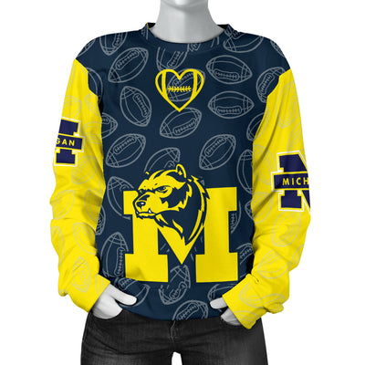 Michigan Wolverines Sweater - Women's