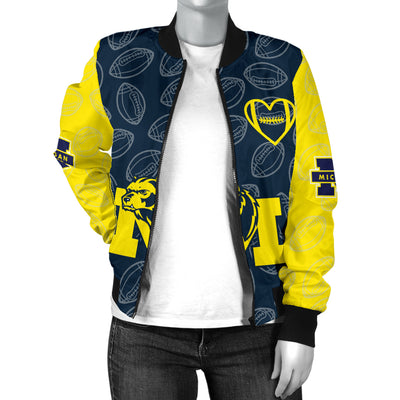 Michigan Wolverines Bomber Jacket - Women's