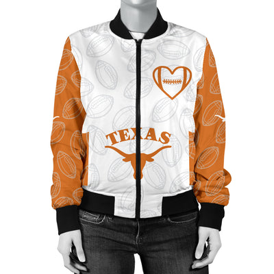 Texas Longhorns Bomber Jacket - Women's