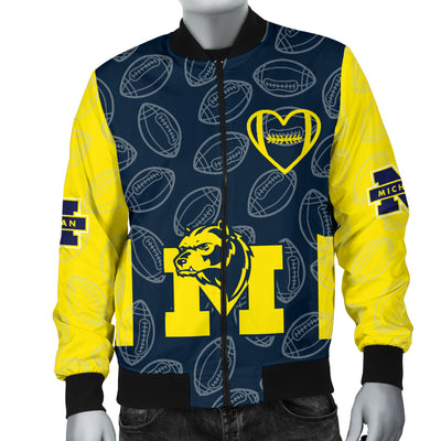 Michigan Wolverines Bomber Jacket - Men's