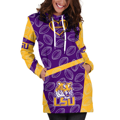 Louisiana State U Tigers Hoodie Dress