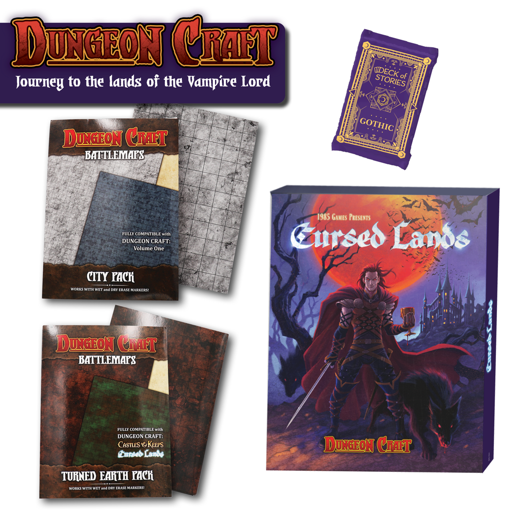 4 sealed products on a white background Curse of Strahd