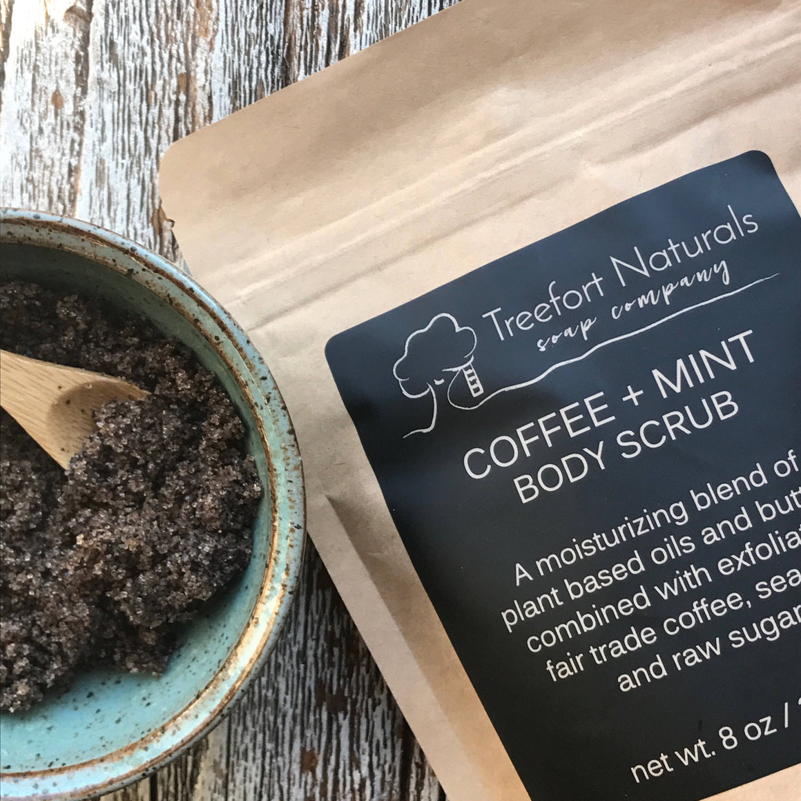 Treefort Naturals Coffee + Mint Body Scrub
