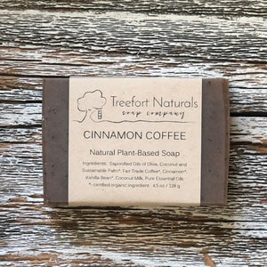 Treefort Naturals Handcrafted Cinnamon Coffee soap