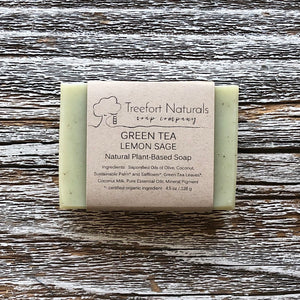 Treefort Naturals Handcrafted Green Tea Lemon Sage soap
