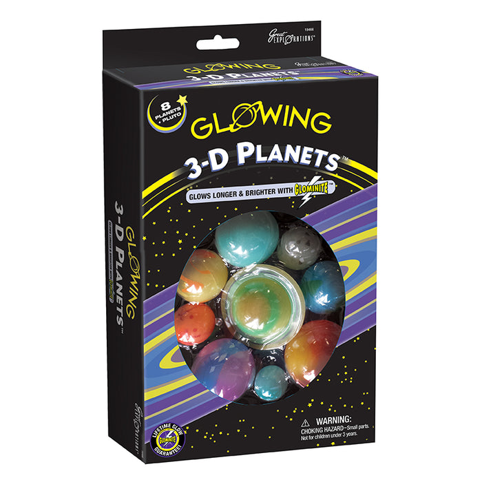 Glow in the Dark 3D Planets