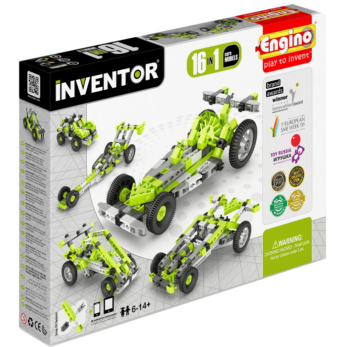 Inventor 16 Model Cars Construction Kit