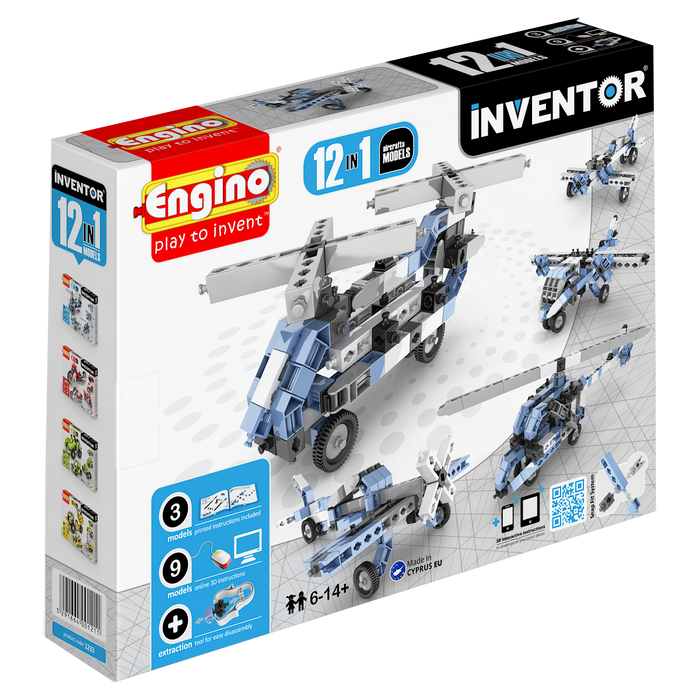 Inventor 12 Model Aircrafts Construction Kit
