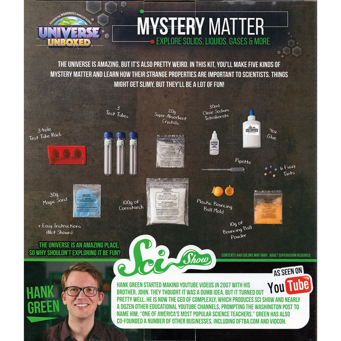 SciShow Mystery Matter Science Experiments
