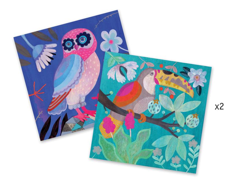 Djeco | Sequin Pictures Flamboyant Birds