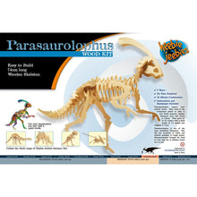 Load image into Gallery viewer, Heebie Jeebies | Dinosaur Wood Kit Large Parasaurolophus