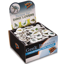 Load image into Gallery viewer, Heebie Jeebies | Dinosaur Design Dino Badges Button