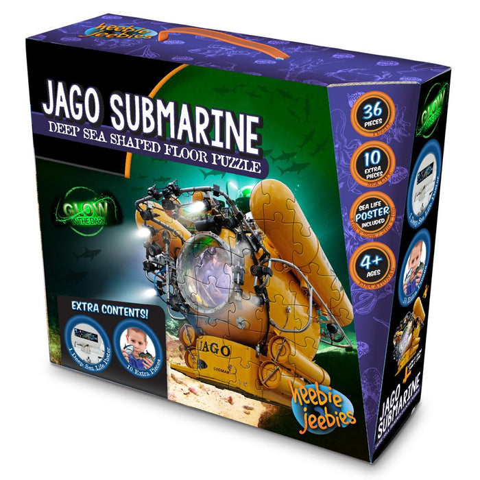 Jago Submarine Floor Pluzzle | Glow In The Dark Puzzle