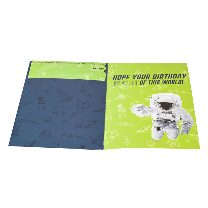 Astronaut Jigsaw Card | Birthday Card | Miniature Puzzle