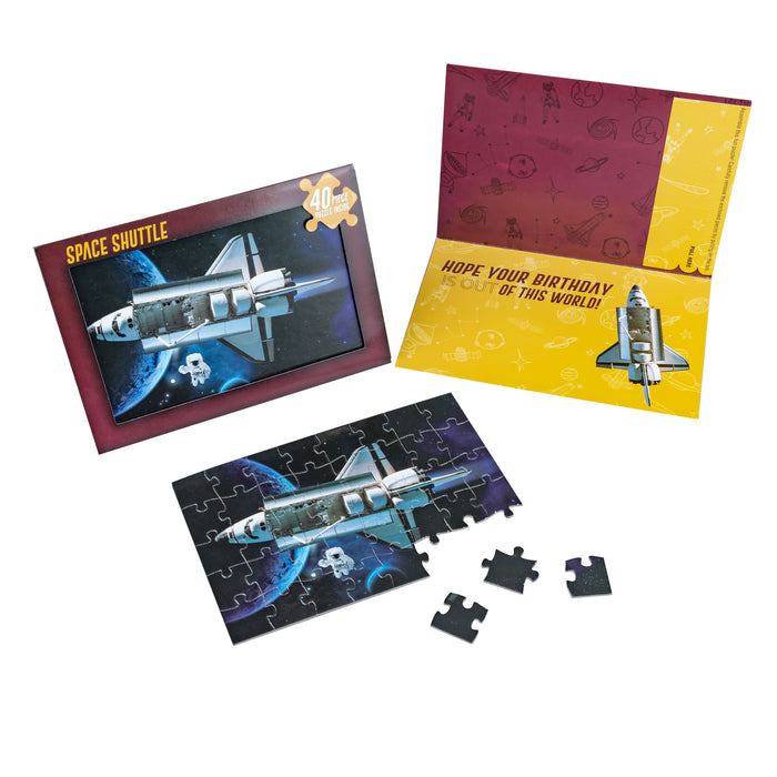 Space Shuttle Puzzle Jigsaw Card