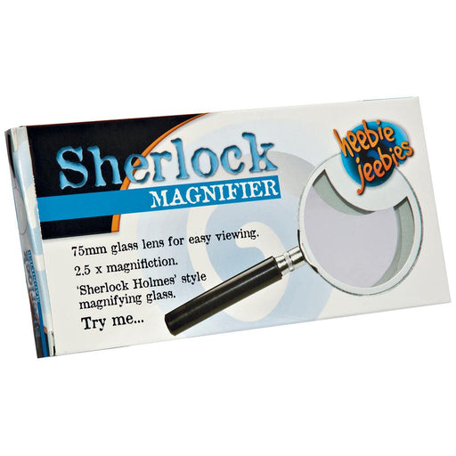Heebie Jeebies | Sherlock Magnifier Metal Magnifying Glass 75Mm