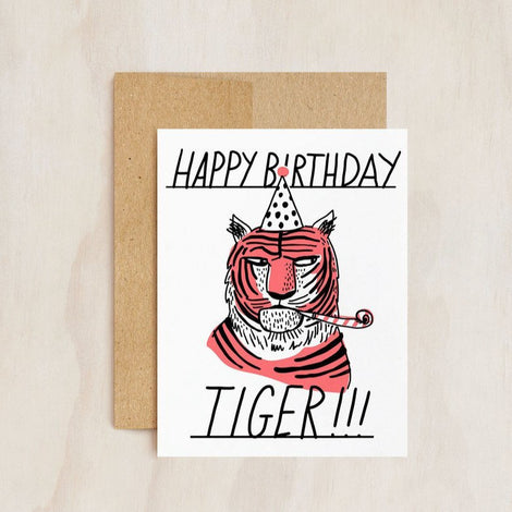 Hello!lucky | Tiger Side Eye Blank Card