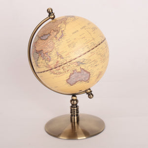 13cm Antique Metal Base Globe