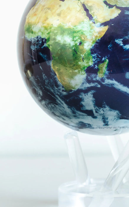 21.5cm Earth With Cloud Magnetic Spinning Globe