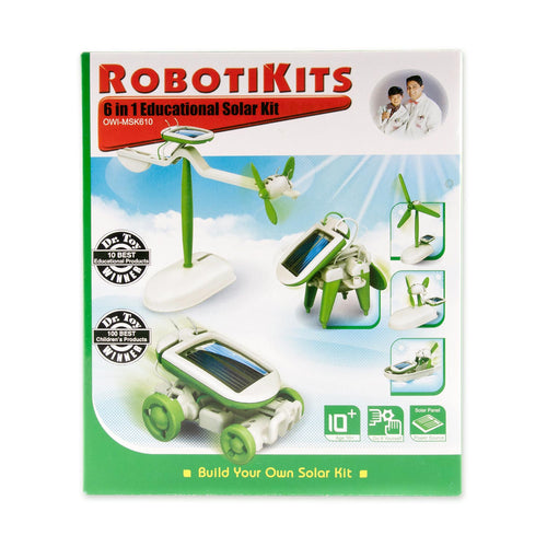 6 In 1 | Solar Kit | Solar Powered Robot