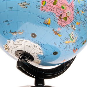 25cm Political Map Animal Globe