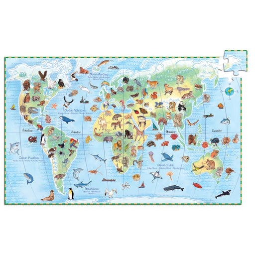 Djeco | Puzzle Observation Animal Of The World 100Pcs