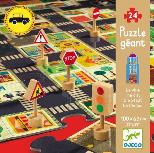 Djeco | City Road 24Pc Giant Puzzle
