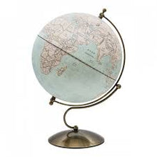 Load image into Gallery viewer, 30cm Light Antique Metal Base World Globe