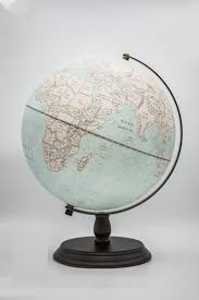 30cm Light Antique Wood Base Globe | Light Up