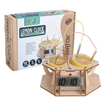 Load image into Gallery viewer, Heebie Jeebies | Wood Kit Lemon Clock