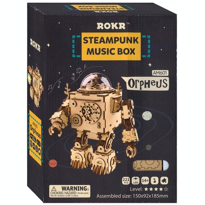 Rokr Orpheus Steampunk DIY Music Box