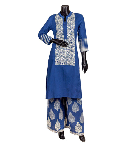 Cotton C-cut center split indo western dress