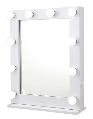 The Alessandra - LED Makeup Mirror - Gloss White - Glamour Makeup Mirrors