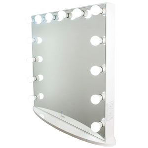 Glamster Studio LED Makeup Mirror - White - Glamour Makeup Mirrors