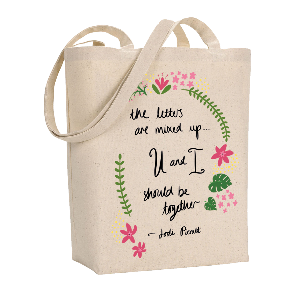 You and I Quote Canvas Tote