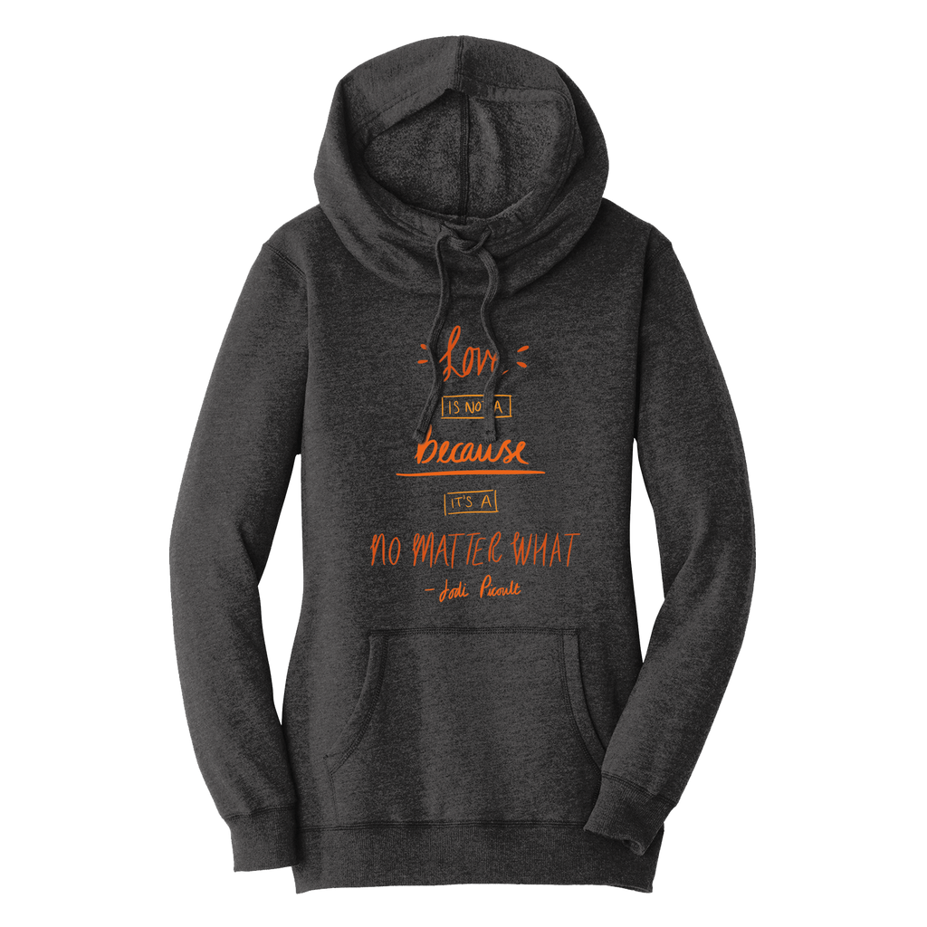 No Matter Quote Autumn Hoodie Heathered Black