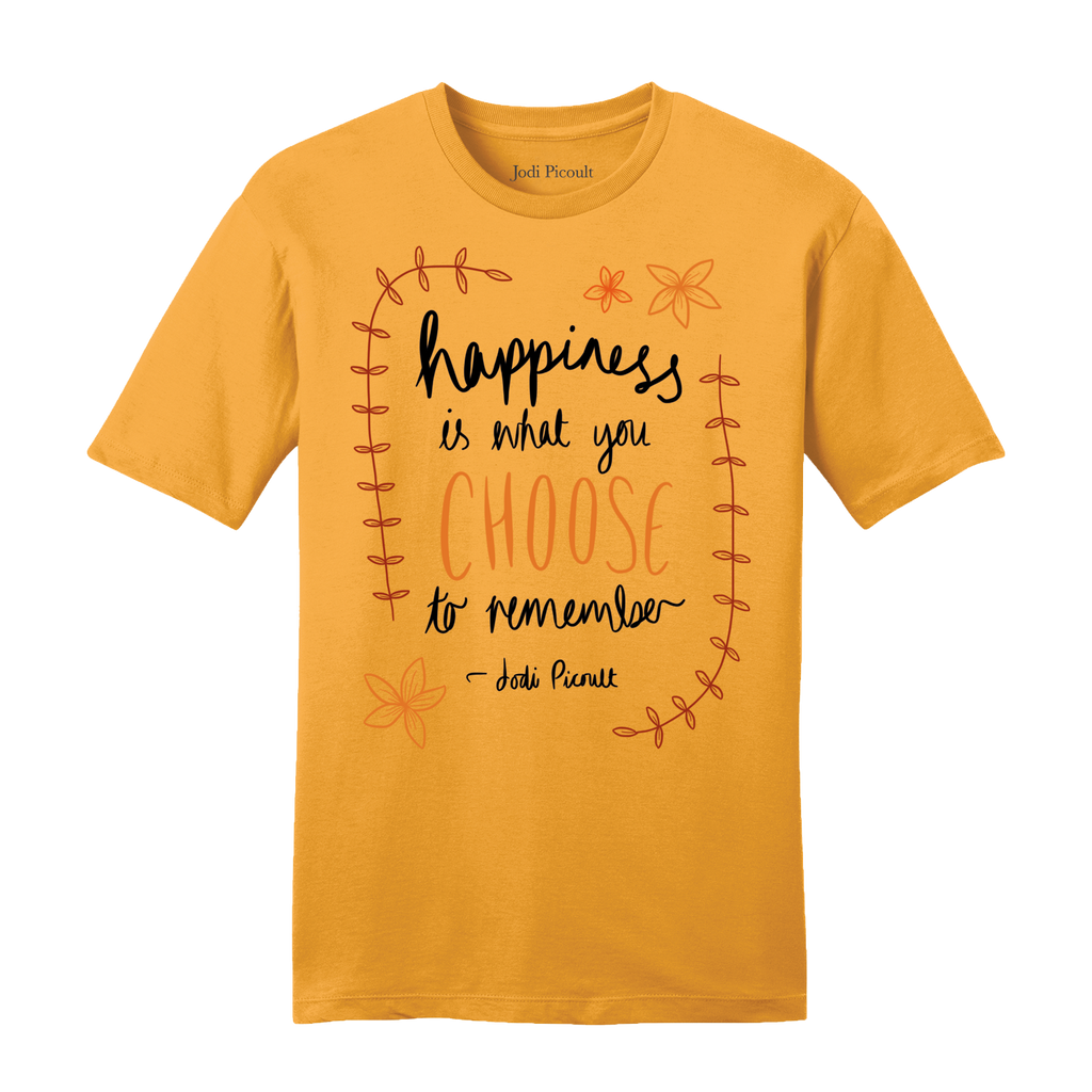 Happiness Quote Gold T-Shirt